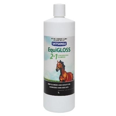 Vetsense Equigloss 2in1 Horse Conditioner & Shampoo - 2 Sizes