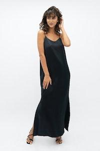 1 People Calabar Silk Slip Dress in Black