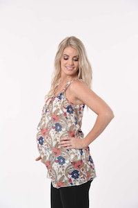 Sprout Maternity Chiffon Print Top
