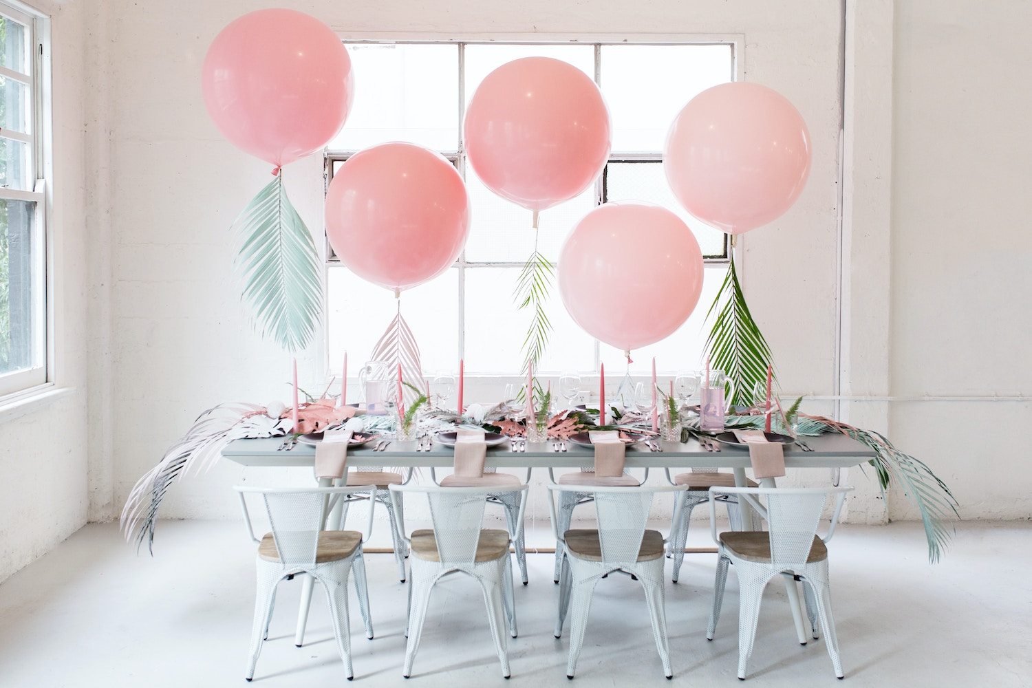 Pastel Palms Baby Shower Theme Parties By Lenzo