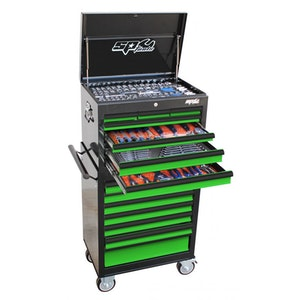 SP50105G Tool Kit 307 Piece Metric/SAE Custom Series BLACK/GREEN SP50105G