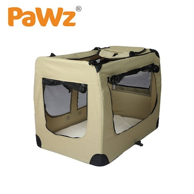 PaWz Pet Travel Carrier Kennel Folding Soft Sided Dog Crate For Car Cage Large M