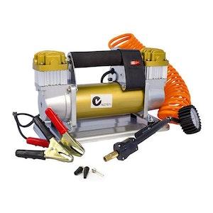 Portable Air Compressor 200L Min 12V Gold