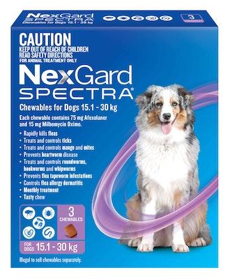 NEXGARD SPECTRA chews for dogs  15.1-30kg