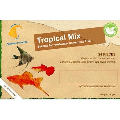 Aquarium Industries AI Nat Tropical Mix - - Frozen 100gm Blist
