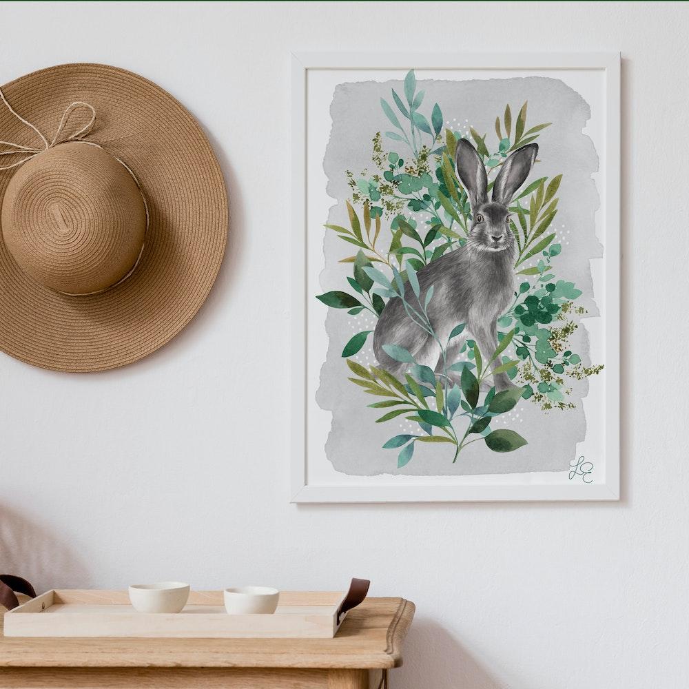 Laura Elizabeth Illustrations Hare Fine Art Print