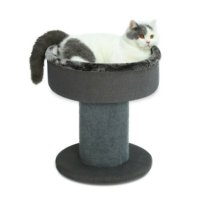 House of Pets Delight The Perch Cat Bed in Dark Grey