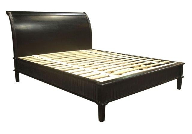 Reeded Sleigh Bed Low Footboard