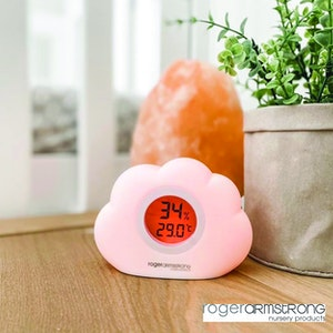 Sleep Easy Cloud Night Light and Room Temperature Reading and Humidity Reading