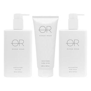 Ocean Road White Trio Pack (Body Wash, Body Scrub & Body Lotion)