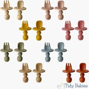 Tidy Babies  Silicone Baby Feeding Cutlery Set