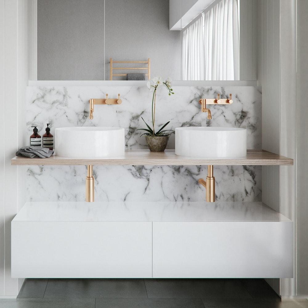 Rifco tranquil vanity custom sizes finishes custom - Custom size bathroom vanity tops ...