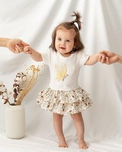 Certified Organic Cotton Butterfly Bodysuit Dress