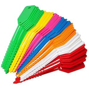 Kevron Econotag ID90 50 Mixed Colour Plastic Write On Key Tags