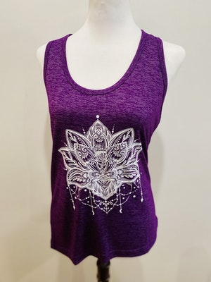 Lulubelles Clothing Lotus Yoga Singlet -Purple