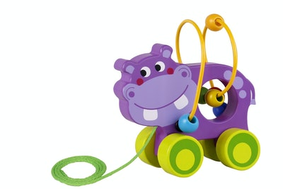 Tooky Toy BEADS PULL ALONG-HIPPO
