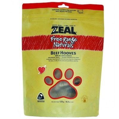 Zeal Free Range Naturals Beef Hooves Dog Cat Treat 125g