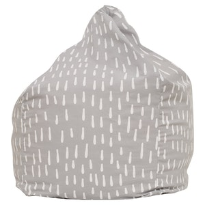 Play Pouch Raindrops Bean Bag - Grey