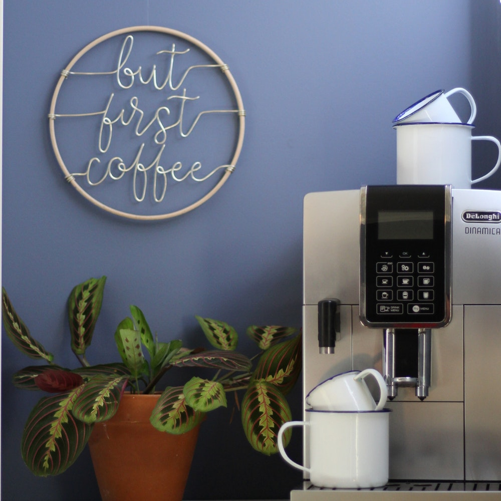 """Wired Mama """"but First Coffee"""" Decorative Hoop"""