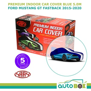Blue Indoor Premium SAAS Show Car Cover Suit Ford Mustang GT Fastback 2015-2020