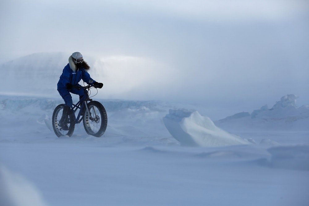Kate Leeming Breaking The Cycle South Pole riding in Spitsberg