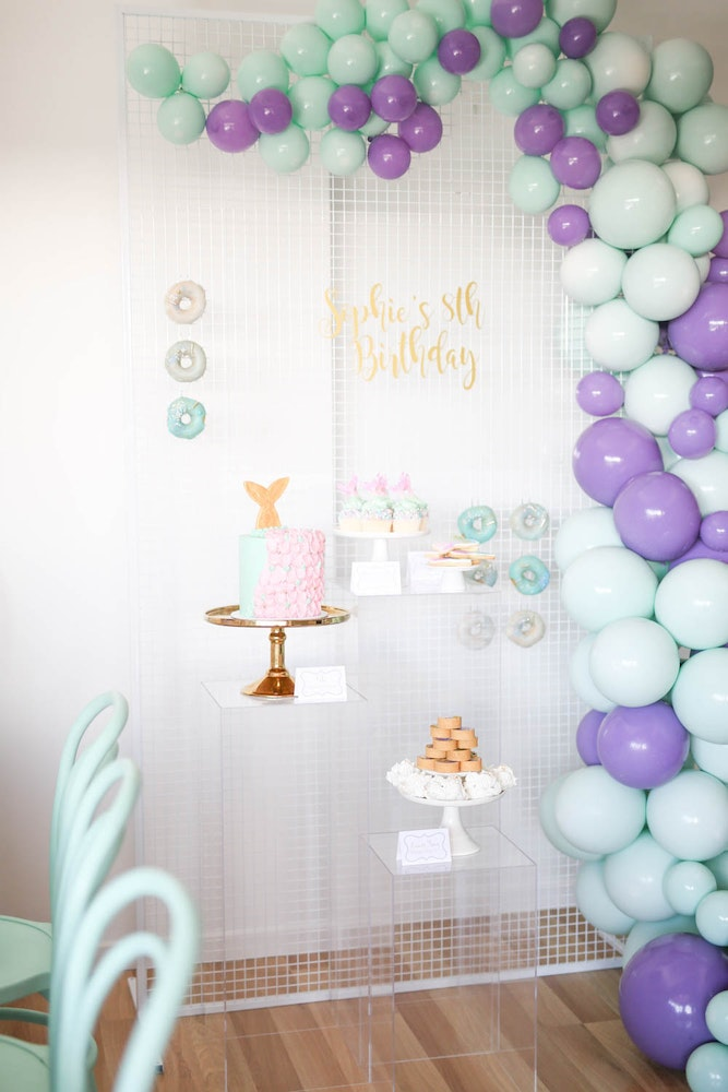 Ivy and Bleu Mermaid Party Dessert Table