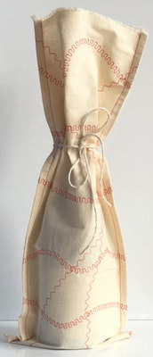 by G  by JoVe Earth Friendly Fabric Gift Wrap Bag - Wine Surprise red