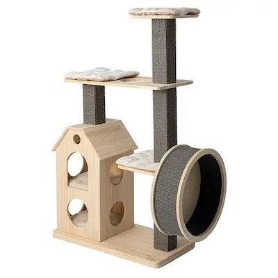 Honeypot CAT® Solid Wood Cat Tree 1.35m