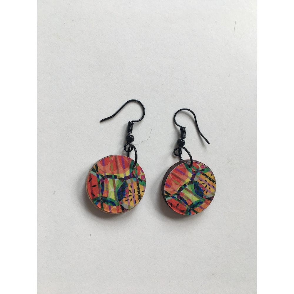 One of a Kind Club Mixed Fruit Jemma Skellett Print Earrings