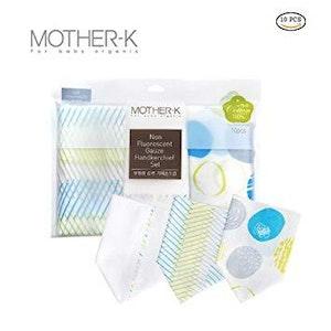 Mother-K Non-fluorescent gauze handkerchief set Cotton Mint (10 sheets)