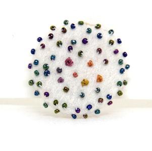 Karhina Metalic Confetti Brooch - 3.5cm