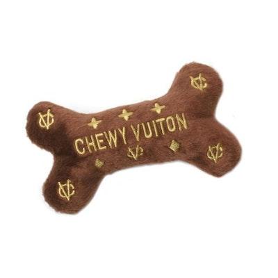 Dog Diggin Designs Chewy Vuiton Bone Dog Toy