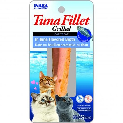 INABA Grilled Tuna Fillet In Tuna Flavoured Broth Cat Treats