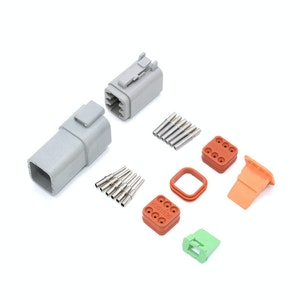 Deutsch DT 6-Way 6 Pin Electrical Connector Waterproof Plug Kit