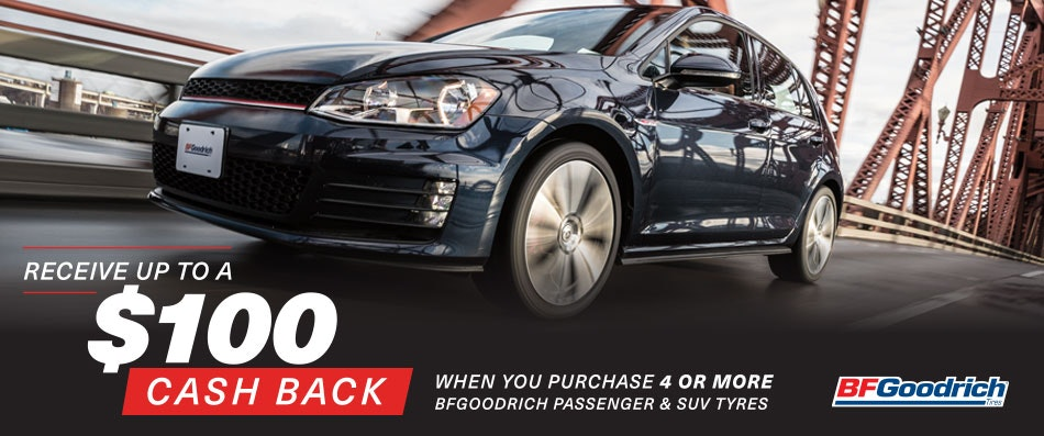 BFGoodrich Cash Back Promotion