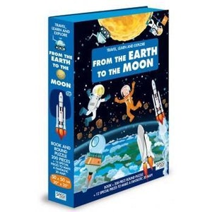 Sassi Junior Sassi - From the Earth to the Moon - Puzzle & Book