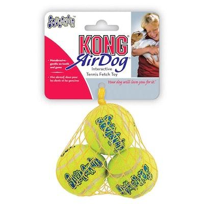 KONG  AirDog Squeaker Balls  Dog Fetch Toy  3 Pack