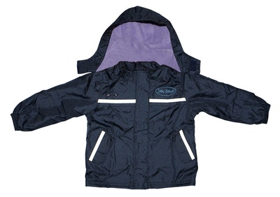 Silly Billyz Large Waterproof Lilac/Navy Jacket