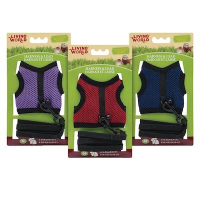 Living World Small Animal Fabric Harness/Lead Set