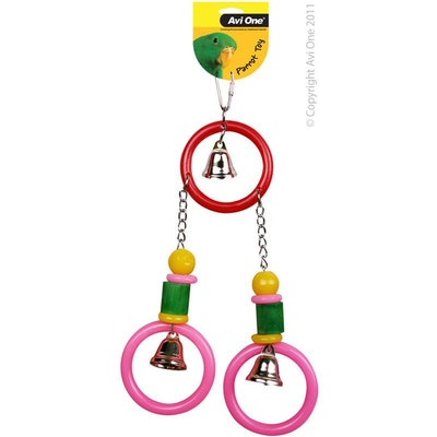 Avi One Bird Toy Acrylic 3 Rings with 3 Bells