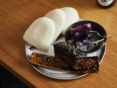 Beef Brisket Bao w/ Bulgogi Sauce, Pickle Set & Kewpie Mayonnaise, 3pc