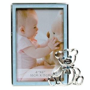 Dakota Baby Frame & Bear Blue