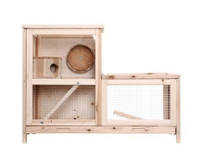 House of Pets Delight Pet Hamster Guinea Pig Ferrets Rodents Large Wooden Hutch with Run