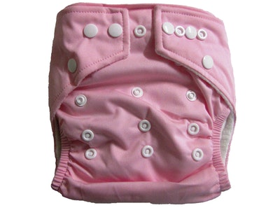 Hippybottomus Stay Dry Bamboo Cloth Nappy - Pink