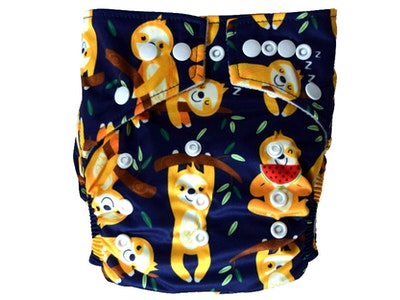 Hippybottomus Stay Dry Bamboo Cloth Nappy - Sloths