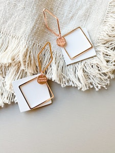 OUTSIDE THE SQUARE LEATHER EARRINGS