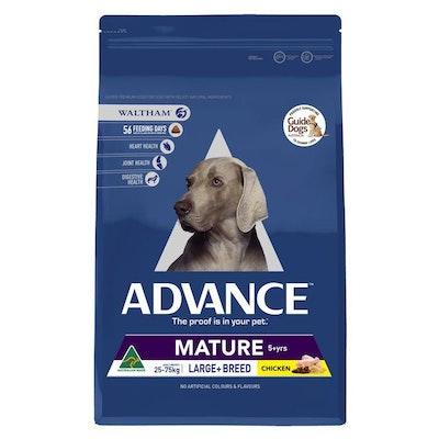 Advance Mature Large Plus Adult Chicken Dry Dog Food 15Kg