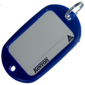 Kevron ID10 Jumbo Motel Key Tag 12 Pack - Dark Blue