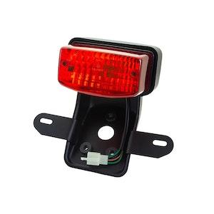Classic Rectangle Brake / Tail Light with Bracket - Black