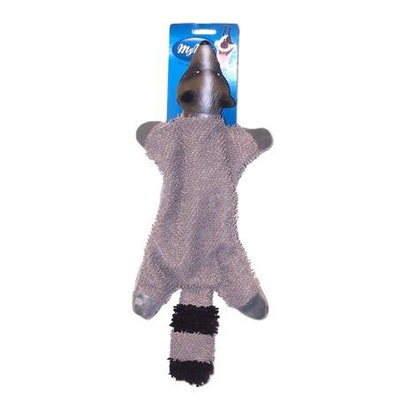 My M8s Latex Head Raccoon Interactive Play Dog Chew Toy